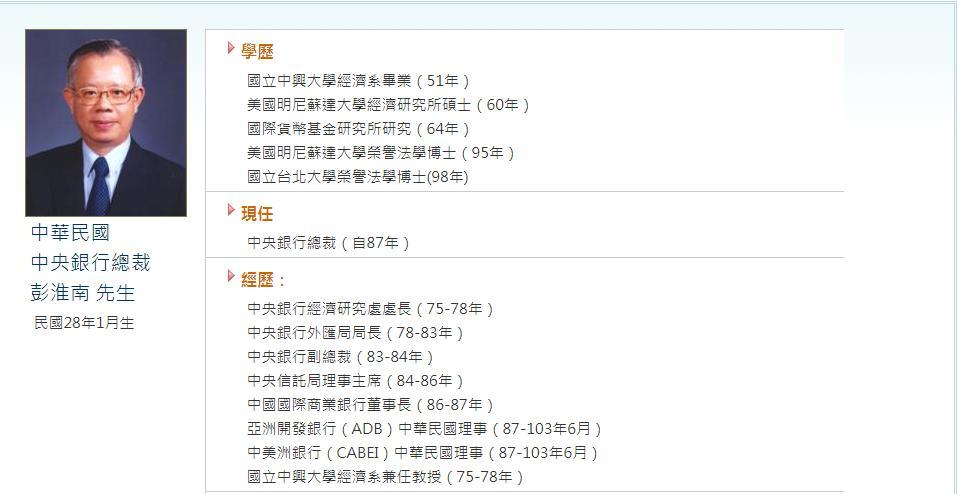 彭淮南這位 14A 央行總裁即將卸任,我們該給他怎麼樣的評價?